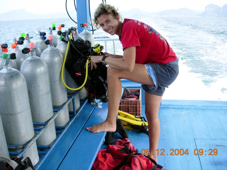 Dykplattformen på en dykbåt.
