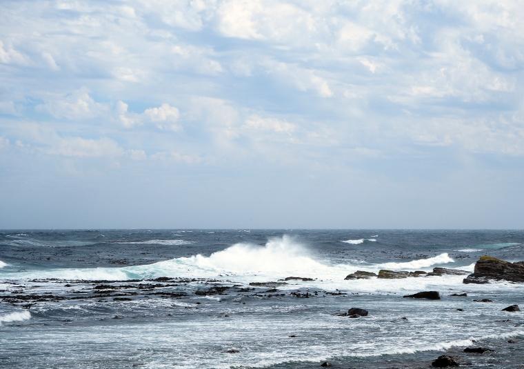 Hav med stora vågor