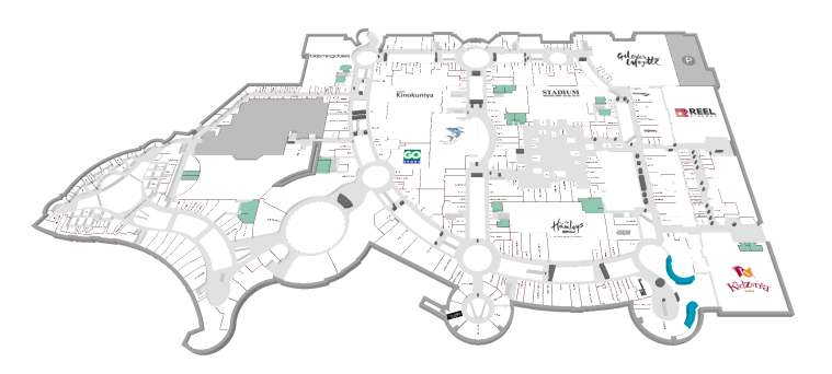 Planskiss över plan 2 Dubai mall