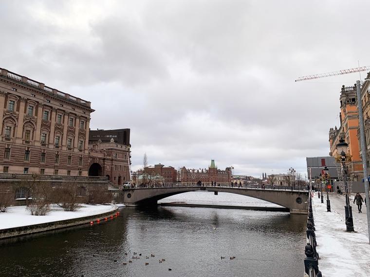 Riksdagshuset och Stockholms ström.