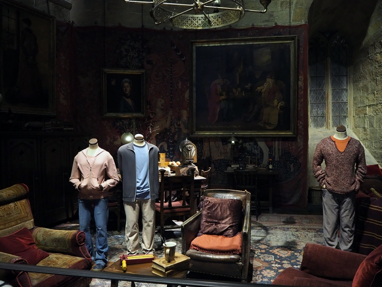 En uppbygd scen från Hogwarts.