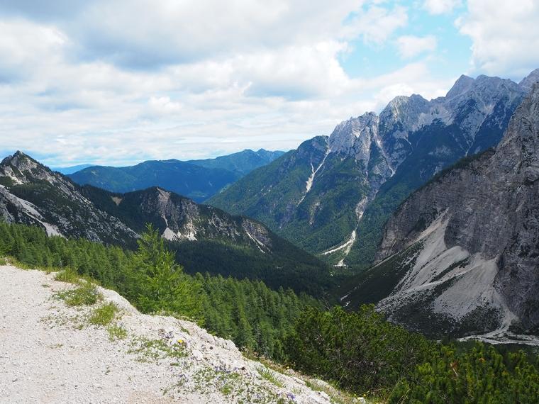 Milsvidd utsikt med berg