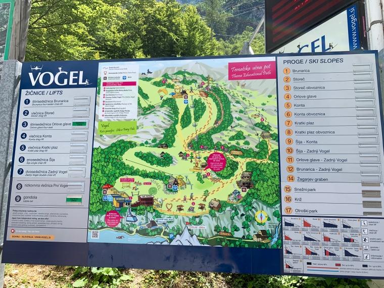 Karta över området Vogel.